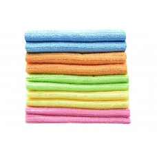 Multi-purpose Cleaning Cloths Microfiber Kitchen Cloth With Strips 12 Inchx12 Inch