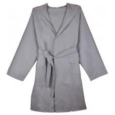 Microfiber Hooded Bathrobe Robe