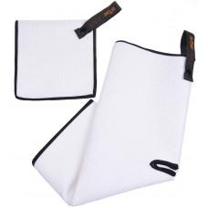 Microfiber Deep Waffle Weave Golf Towels with Free Golf Balls Towel