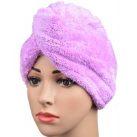 Microfiber Ultra Absorbent Twist Hair Turban Drying Cap Hair Wrap Cap 9.5 Inchx24.4 Inch